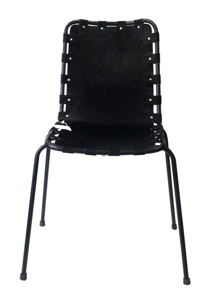 370210 DK Living Iron And Leather Boomie Chair