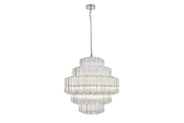 Elegant Riviera 12 Light Chrome Chandelier 1706D23C