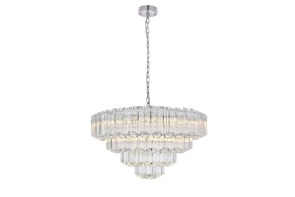 Elegant Riviera 9 Light Chrome Chandelier 1706D26C