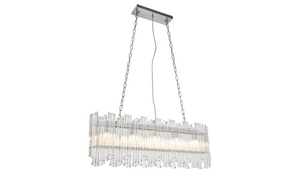 Elegant Riviera 5 Light Chrome Chandelier 1707D40C