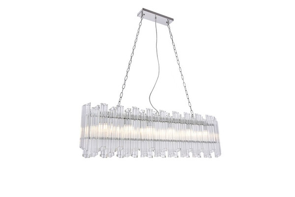 Elegant Riviera 6 Light Chrome Chandelier 1707G50C