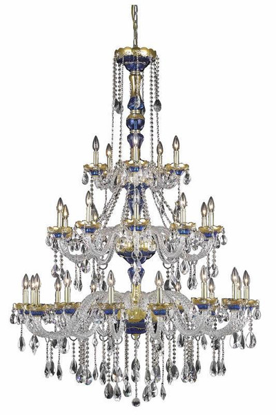 Elegant Alexandria 30 Light Blue Chandelier Clear Swarovski® Elements Crystal 7810G45BE/SS