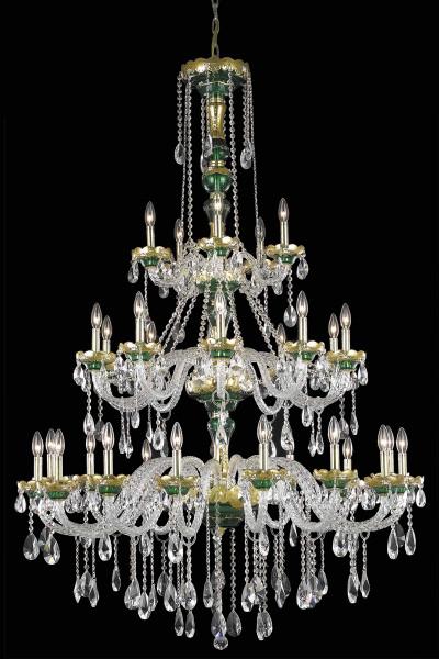 Elegant Alexandria 30 Light Green Chandelier Clear Elegant Cut Crystal 7810G45GN/EC