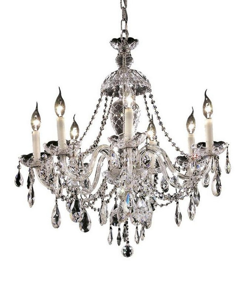 Elegant Alexandria 7 Light Chrome Chandelier Clear Royal Cut Crystal 7829D26C/RC