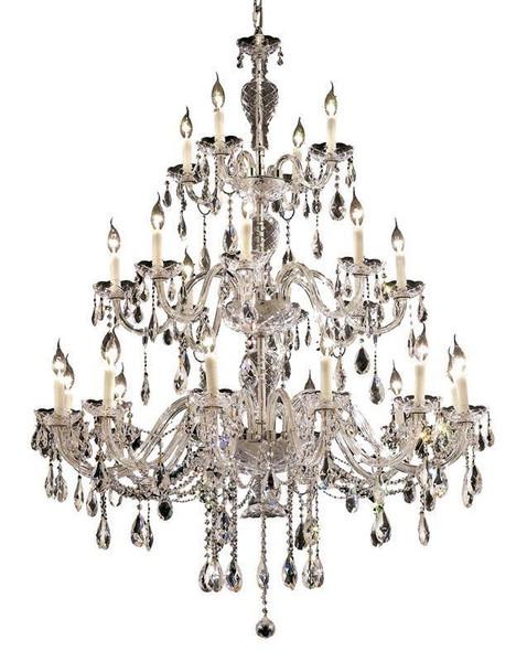 Elegant Alexandria 24 Light Chrome Chandelier Clear Swarovski® Elements Crystal 7829G45C/SS