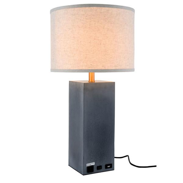 Elegant Brio 1-Light Concrete Finish Table Lamp TL3008