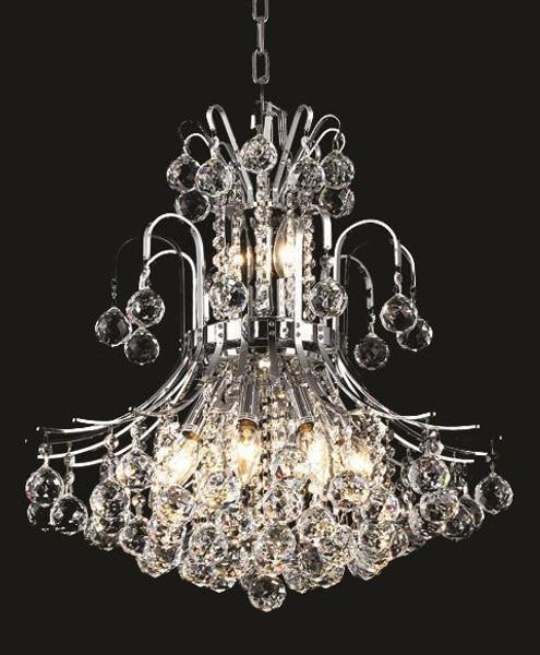 Elegant Toureg 10 Light Chrome Pendant Clear Spectra® Swarovski® Crystal V8001D19C/SA