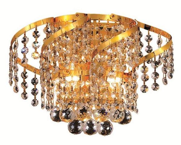 Elegant Belenus 2 Light Gold Wall Sconce Clear Royal Cut Crystal VECA1W12G/RC