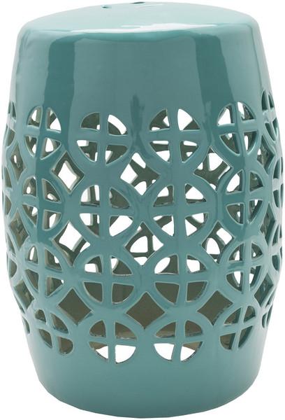 Turquoise Stool - 13 X 13 X 18 RWY005-131318