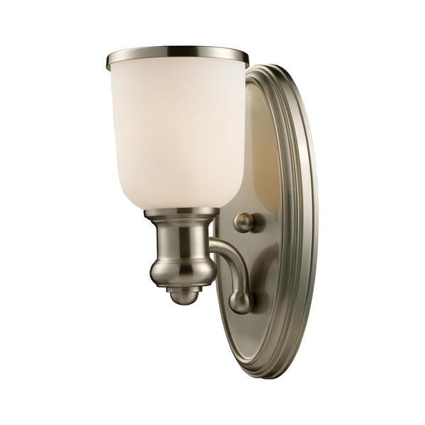 Elk Brooksdale 1-Light Sconce In Satin Nickel 66160-1 Lighting