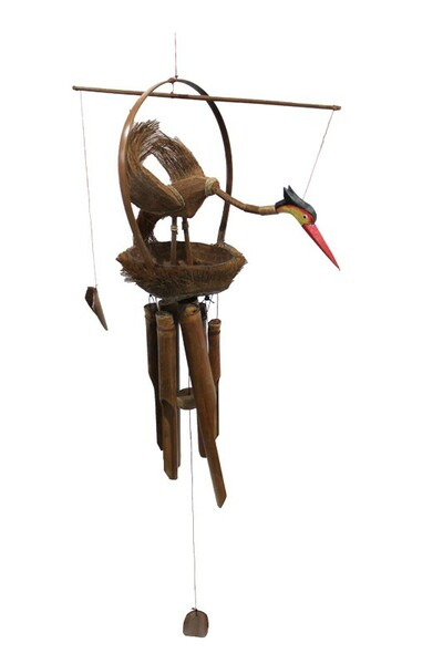 EN13149 Essential Wooden Wind Chime Bird House - Pack Of 12