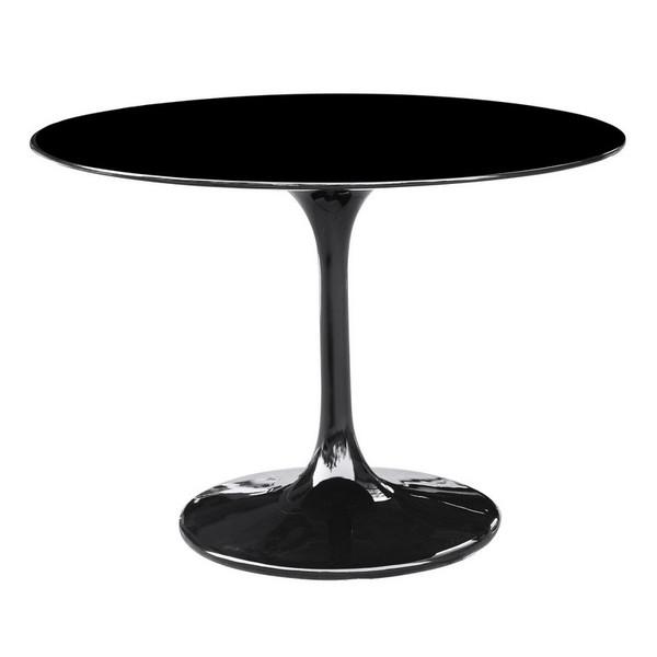 """27"""" Black Fiberglass Tulip Lippa Dining Table FMI1149 by Fine Mod"""