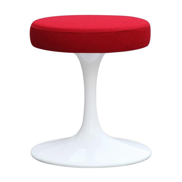"16"" Tulip Lippa Stool Chair - Red FMI9251 by Fine Mod Imports"