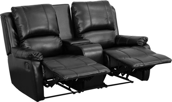 Black Leather Pillowtop 2-Home Theater Recliner BT-70295-2-BK-GG