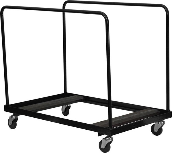 Black Steel Folding Table Dolly For Round Folding Tables NG-DY60-GG