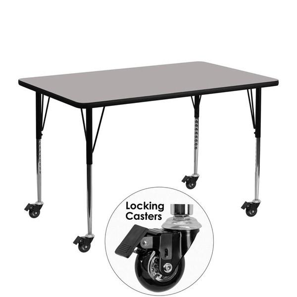 Activity Table Grey Top XU-A2448-REC-GY-H-A-CAS-GG