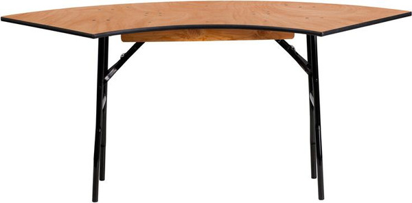 5.5 Ft.x2 Ft. Serpentine Wood Folding Banquet Table YT-WSFT48-24-SP-GG