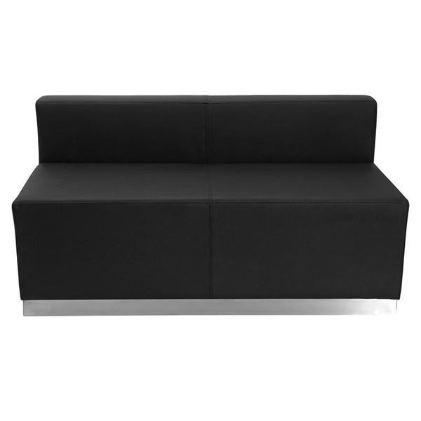 Flash Furniture Hercules Alon Black Leather Loveseat ZB-803-LS-BK-GG
