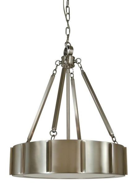 """4-Light 16"""" Brushed Nickel/Polished Nickel Pantheon Pendant 4590"""