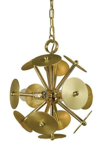 4-Light Antique Brass/Magogany Bronze Apogee Mini Chandelier 4974