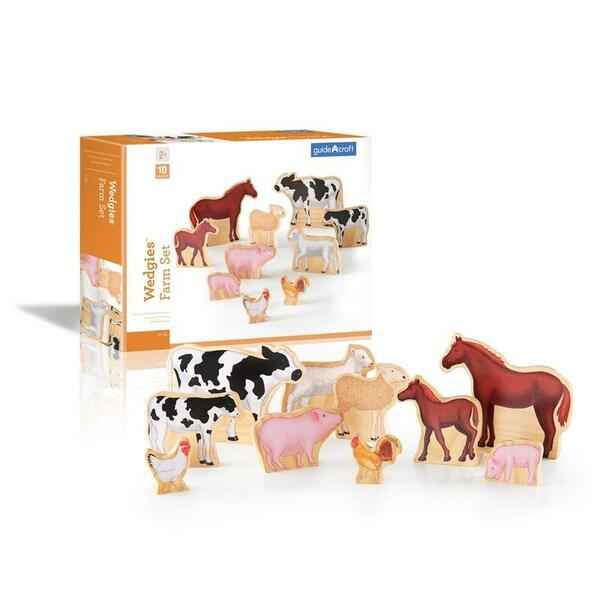 G1122 Wedgies Farm Animals Set by Guidecraft