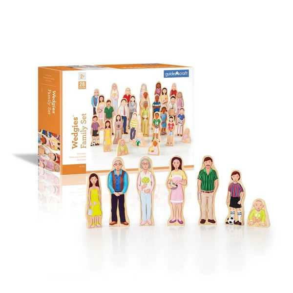 G1123 Wedgies Multi-Cultural Family Set by Guidecraft