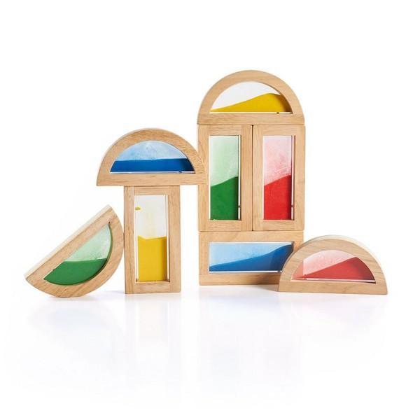 G3014 Rainbow Blocks Sand by Guidecraft