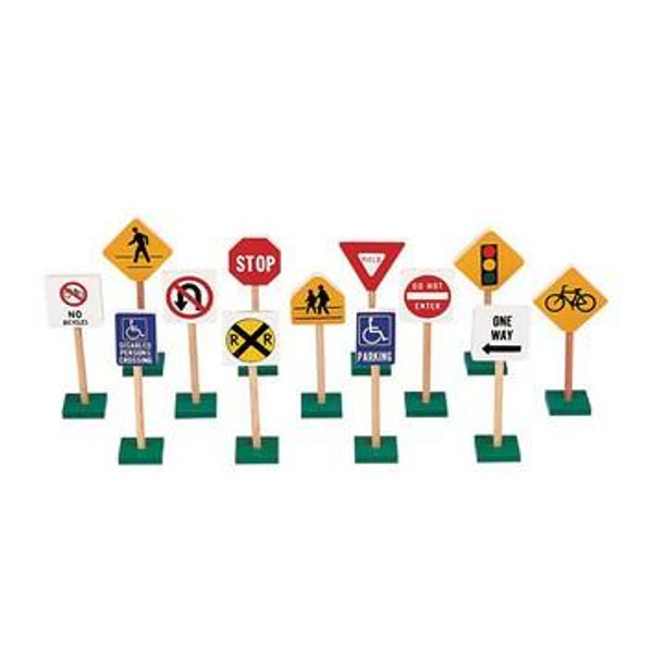 """G309 7"""" Block Play Traffic Signs by Guidecraft"""
