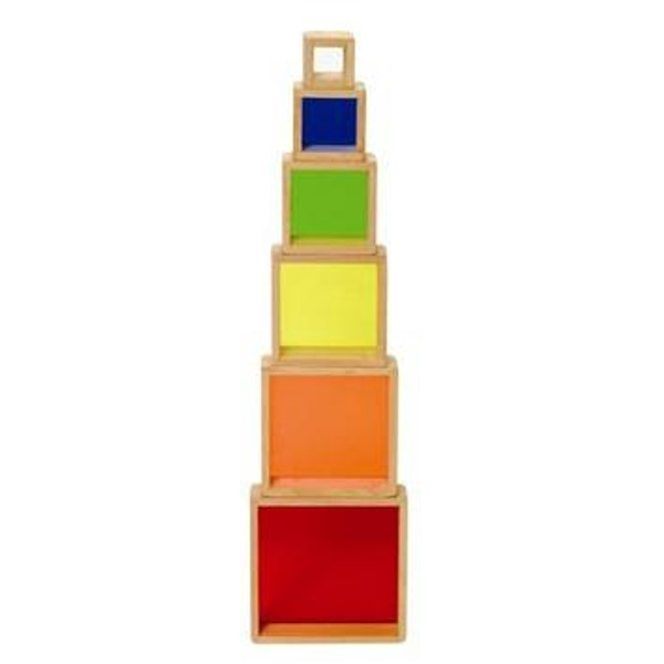 G5066 Stacking Rainbow Pyramid by Guidecraft