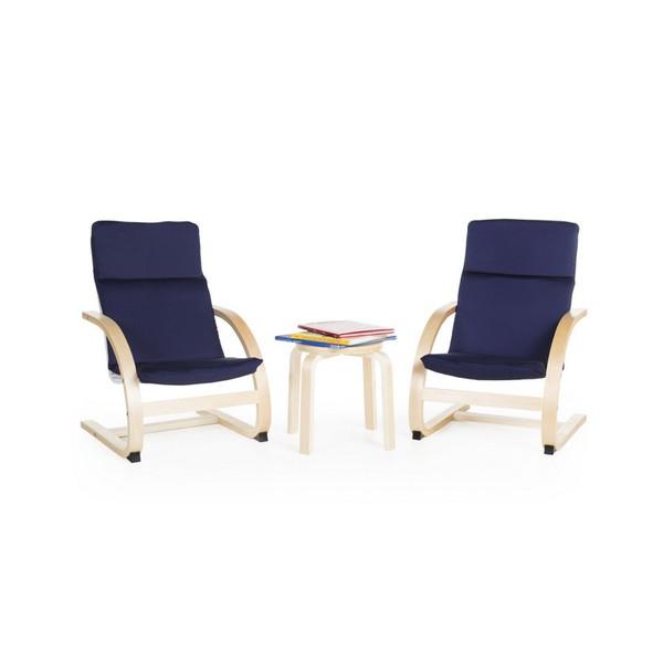 G6406K Kiddie Rocker Chair Set - Blue by Guidecraft