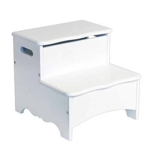 G85706 Classic White Storage Step Up by Guidecraft