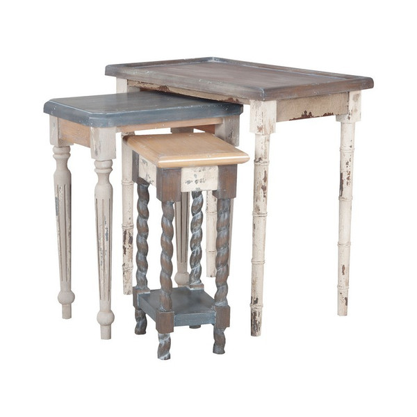 Artifacts Nesting Tables In Multi Stain Collage Finish 7115539S