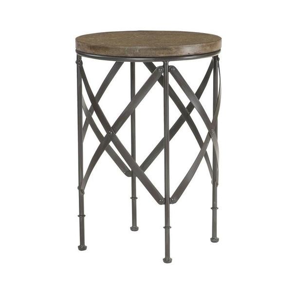 Hammary Furniture Hidden Treasures Gray Round Metal Table 090-716