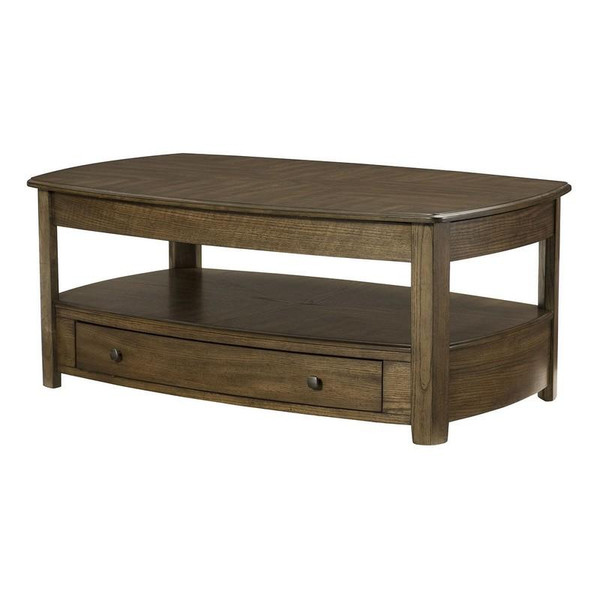 Hammary Primo Rectangular Lift-Top Cocktail Table In Oak 446-910