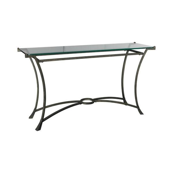 Hammary Iron Rectangular Sofa Table With Glass Top T30026-T3002689-00R