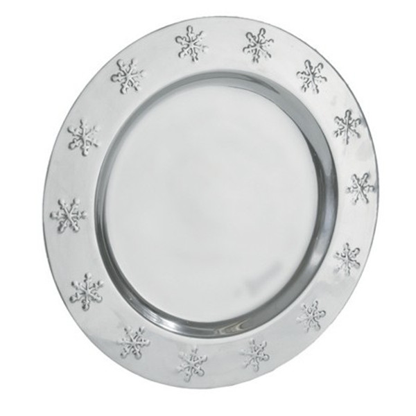 1031 Aluminum Snowflake Charger (Pack Of 12)