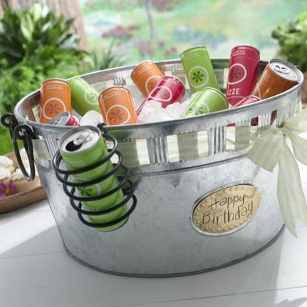 11004 Galvanized Round Cut-Out Tub (Pack Of 4)