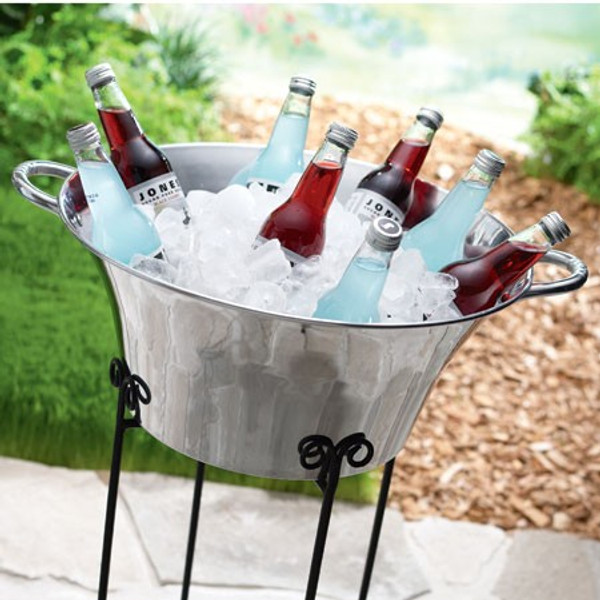 11020 Round Ice Bucket With Handle (Pack Of 4)