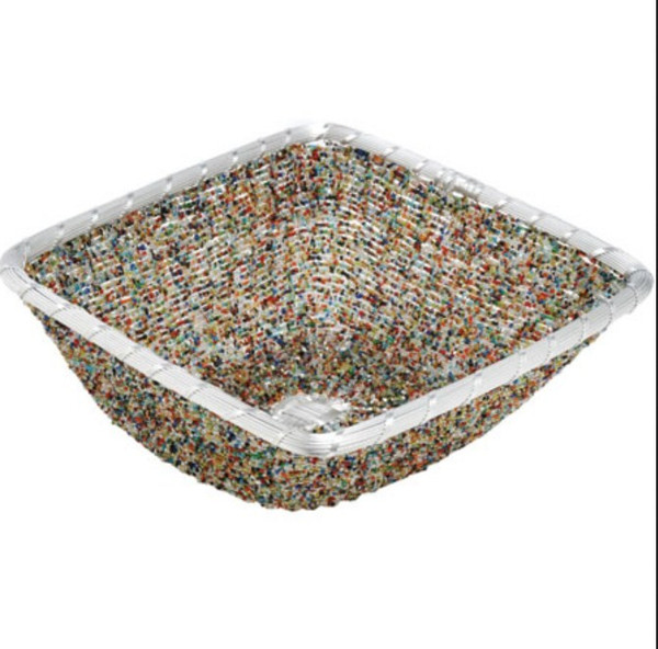11233 Mixed Beadedes Basket (Pack Of 6)