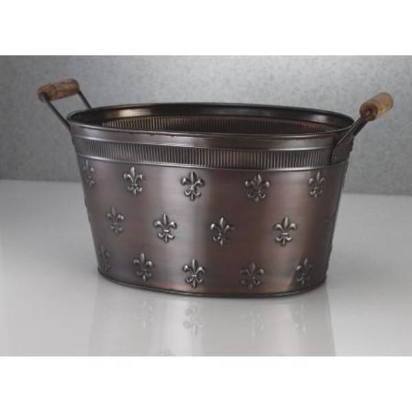 11263 Copper Fleur De Lis Tub (Pack Of 6)