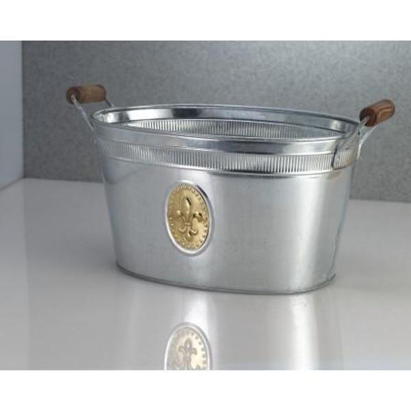 11264 Gold Fleur De Lis Emblem Tub (Pack Of 6)