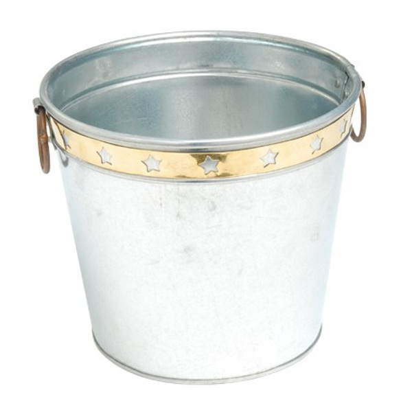 11315 Galvanized Bucket With Brass (Pack Of 12)