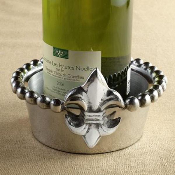 11415 Fleur De Lis Wine Holder (Pack Of 6)