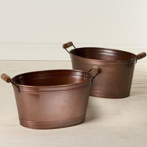 11419 Plain Copper Tub (Pack Of 6)