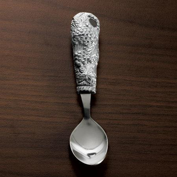 Grapes & Leaves Spoon, Pack Of 12 11987 By India Handicrafts
