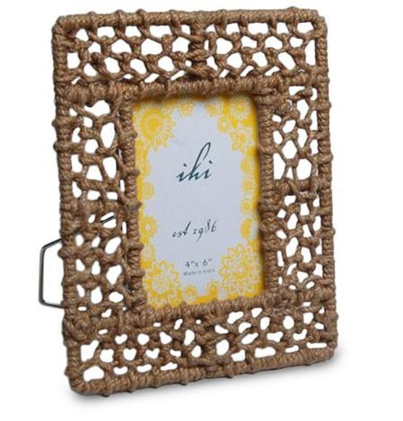 13276 Rope Photo Frame Medium (Pack Of 6)
