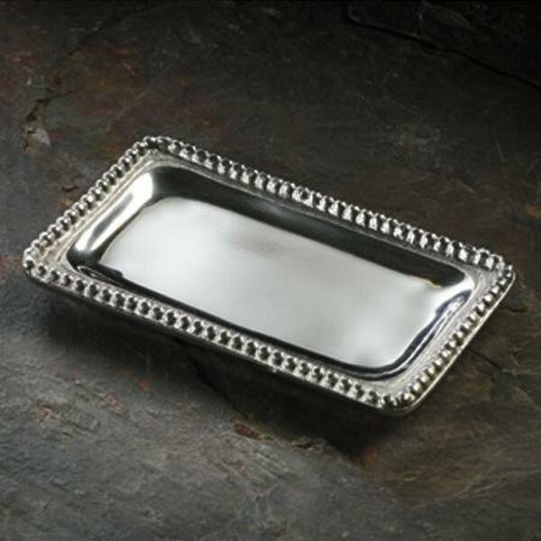 Beaded Rectangular Tray Small, Pack Of 6 13422 By India Handicrafts