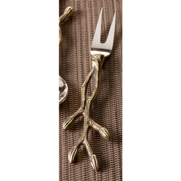 Gilded Steel Bud Fork, Pack Of 12 13625 By India Handicrafts