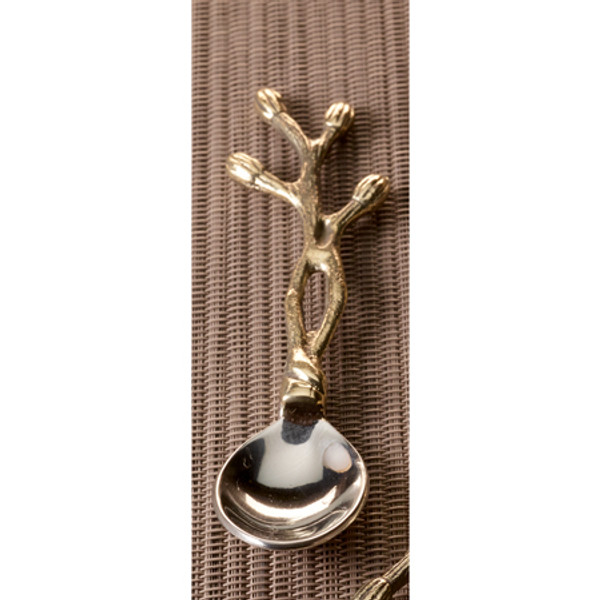 Gilded Steel Bud Spoon, Pack Of 12 13626 By India Handicrafts