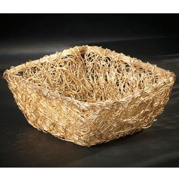 13788 Gilded Twist Basket (Pack Of 6)